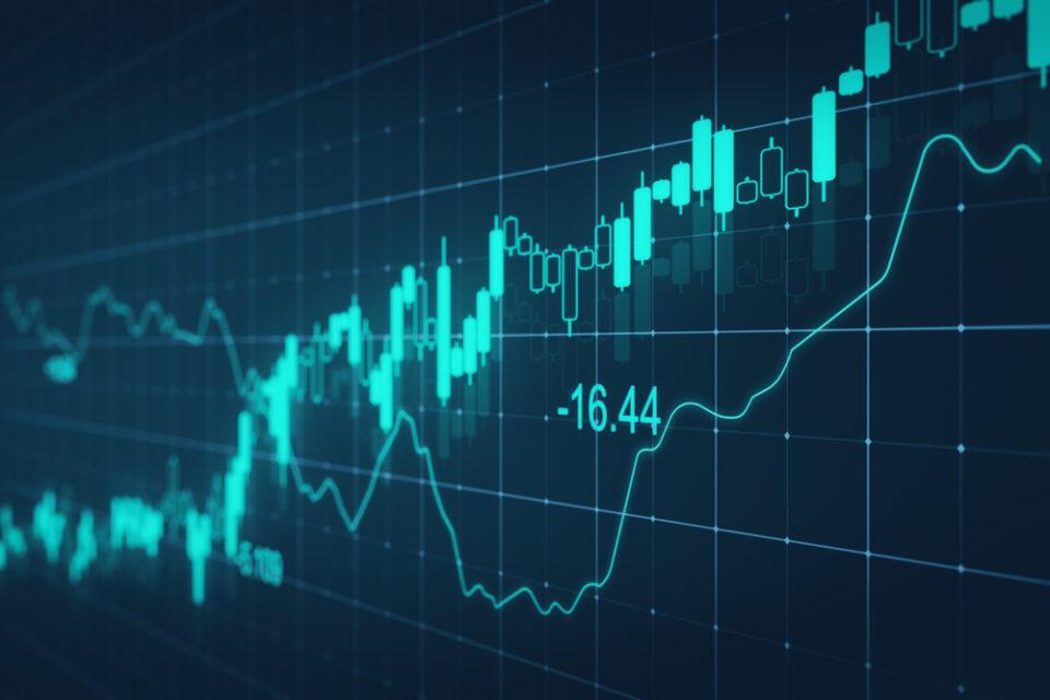 Trading-Analyse-Charts mit unterschiedlichen Zahlen und Charts